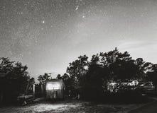Acampamento em Florida na noite fotos de stock royalty free
