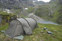 Acampamento em Noruega Fotos de Stock