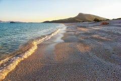 Acampamento em uma praia remota do mar de Cortez em México Fotografia de Stock Royalty Free