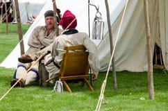 Acampamento francês dos caçadores foto de stock