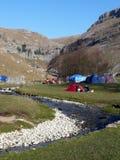Acampamento na angra de Malham Imagem de Stock Royalty Free