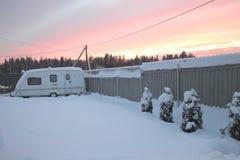 Acampamento no inverno Foto de Stock Royalty Free