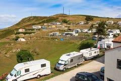 Acampamento no norte da Espanha imagens de stock