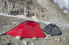 Acampamento nos cumes franceses Fotografia de Stock Royalty Free