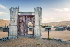 Acampamento Omã do deserto da entrada Fotos de Stock Royalty Free