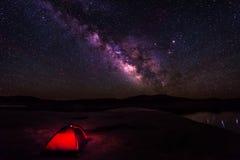 Acampamento sob as estrelas Foto de Stock