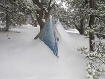 Acampamento ultraleve da neve Imagens de Stock