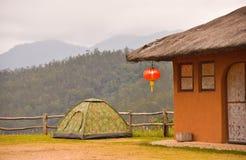 Acampando en el Mountain View, celebre el Año Nuevo chino Imagen de archivo libre de regalías