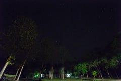 Acampando en la noche, Huai Kha Khaeng Wildlife Sanctuary, Tailandia, Imágenes de archivo libres de regalías