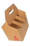 Acanalado recicle el portador de la botella Fotografía de archivo libre de regalías