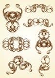 Acanthus desenhado mão do vintage Imagens de Stock Royalty Free