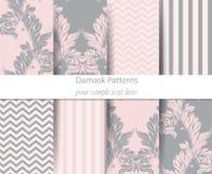 Acanthus leaf pattern set Vector. Classic Baroque ornament decor. Vintage background. Pastel color fabric textures. Acanthus leaf pattern lcassic set Vector Stock Photo