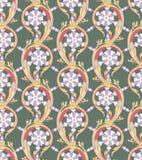 Acanthus leaves (seamless pattern) stock illustration