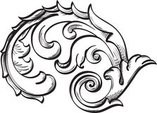 Acanthus scroll Royalty Free Stock Photo