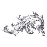 Acanthus Scroll. Ancient engraving of acanthus scroll design