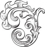 Acanthus swirll Stock Images
