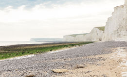 Acantilado blanco Birling la costa atlántica de Gap, Inglaterra Fotos de archivo libres de regalías
