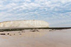 Acantilado blanco popular Birling la costa de Gap Océano Atlántico, Susse del oeste Fotos de archivo