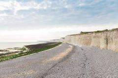 Acantilado blanco popular Birling la costa de Gap Océano Atlántico, Susse del oeste Imagenes de archivo