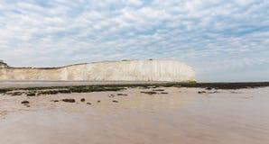 Acantilado blanco popular Birling la costa de Gap Océano Atlántico, Susse del oeste Fotografía de archivo libre de regalías