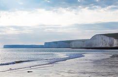 Acantilado blanco popular Birling la costa de Gap Océano Atlántico, Susse del oeste Imágenes de archivo libres de regalías