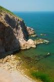 Acantilado con el océano vista-vertical Fotos de archivo