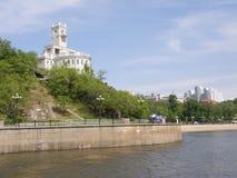 Acantilado de Amur khabarovsk Extremo Oriente Imágenes de archivo libres de regalías