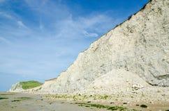 Acantilado de Blanc Nez del casquillo Fotografía de archivo libre de regalías