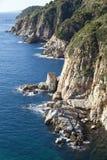 Acantilado de Brava de la costa Foto de archivo