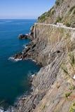 Acantilado de Cinque Terre Fotografía de archivo libre de regalías