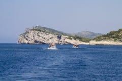 Acantilado de Dugi Otok en las islas de Kornati, Croatia. Foto de archivo libre de regalías