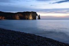 Acantilado de Etretat, Normandía, Francia Fotografía de archivo