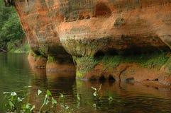 Acantilado de la piedra arenisca Imagenes de archivo