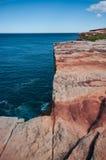 Acantilado de la piedra arenisca de la roca Fotos de archivo libres de regalías