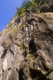 Acantilado de la piedra caliza foto de archivo