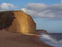 Acantilado de la playa Foto de archivo libre de regalías