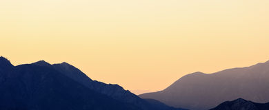 Acantilado de la puesta del sol Foto de archivo libre de regalías