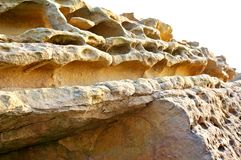 Acantilado de la roca Fotografía de archivo