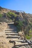 Acantilado de las escaleras Fotografía de archivo