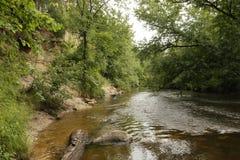Acantilado de Sandrock, St Croix River, gobernador Knowles State Forest, Wisconsin Fotografía de archivo libre de regalías