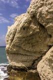 Acantilado de tiza en el mar Mediterráneo fotos de archivo libres de regalías