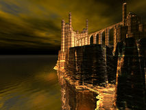 Acantilado del castillo Imágenes de archivo libres de regalías