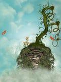 Acantilado en el cielo stock de ilustración