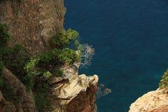 Acantilado en el mar Foto de archivo