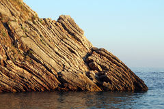 Acantilado en el mar Foto de archivo libre de regalías