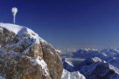 Acantilado en invierno Imagen de archivo libre de regalías