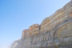 Acantilado en Praia del Rey Fotos de archivo