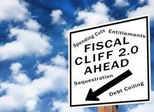 Acantilado fiscal 2,0 Imagen de archivo