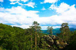 Acantilado hermoso del top del paisaje Foto de archivo libre de regalías