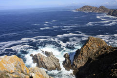 Acantilado Islas Cies Stock Image